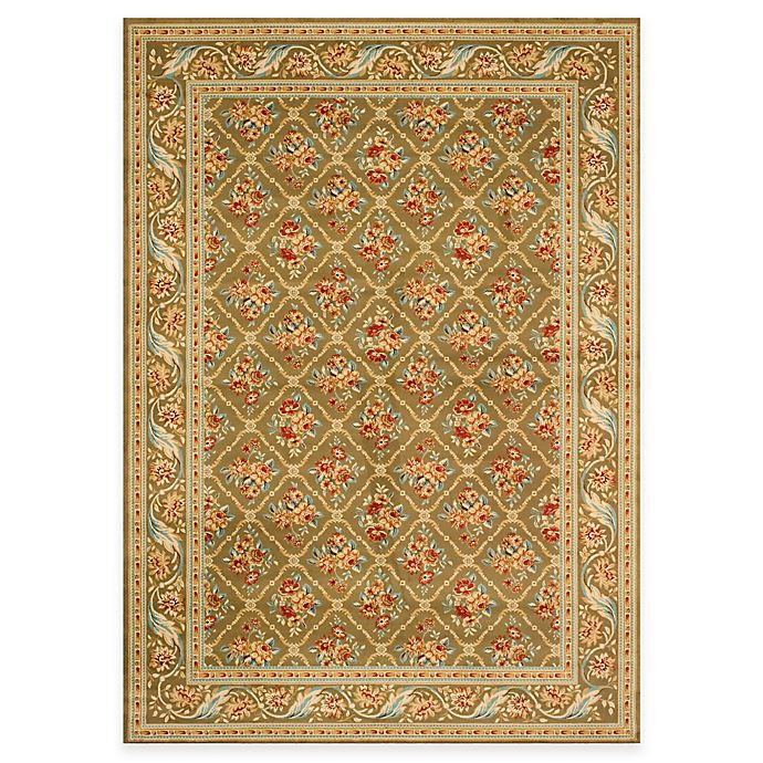 Alternate image 1 for Safavieh Lyndhurst Floral Bouquet 8-Foot x 11-Foot Room Size Rug in Green