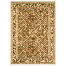 Safavieh Lyndhurst Floral Bouquet 5-Foot 3-Inch x 7-Foot 6-Inch Room Size Rug in Green