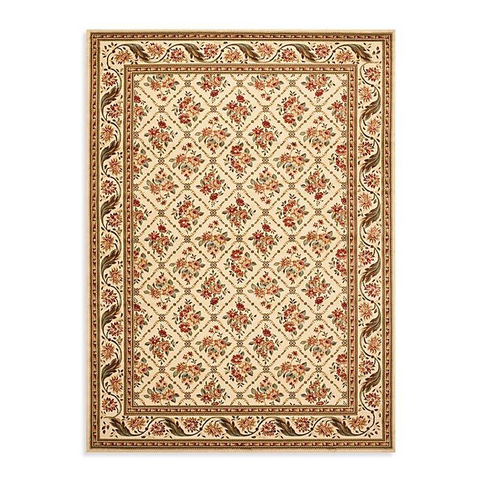 Alternate image 1 for Safavieh Lyndhurst Floral Bouquet 8-Foot x 11-Foot Room Size Rug in Ivory