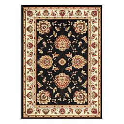 Safavieh Lyndhurst Flower Palmette 8-Foot x 11-Foot Room Size Rug in Black