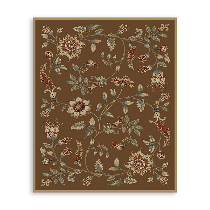 Alternate image 1 for Safavieh Lyndhurst Flower and Vine 8-Foot x 11-Foot Room Size Rug in Brown
