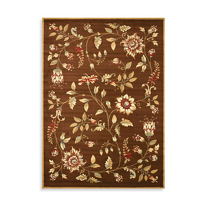 Alternate image 1 for Safavieh Lyndhurst Flower and Vine 8-Foot x 11-Foot Room Size Rug in Green