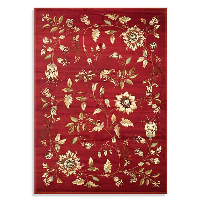 Alternate image 1 for Safavieh Lyndhurst Flower and Vine 8-Foot x 11-Foot Room Size Rug in Ivory