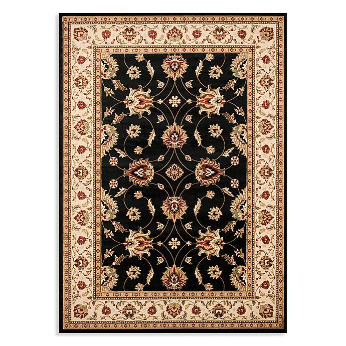 Alternate image 1 for Safavieh Lyndhurst Flower 5-Foot 3-Inch x 7-Foot 6-Inch Room Size Rug in Black