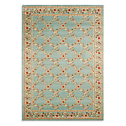 Safavieh Lyndhurst Flower and Vine 5-Foot 3-Inch x 7-Foot 6-Inch Room Size Rug in Blue