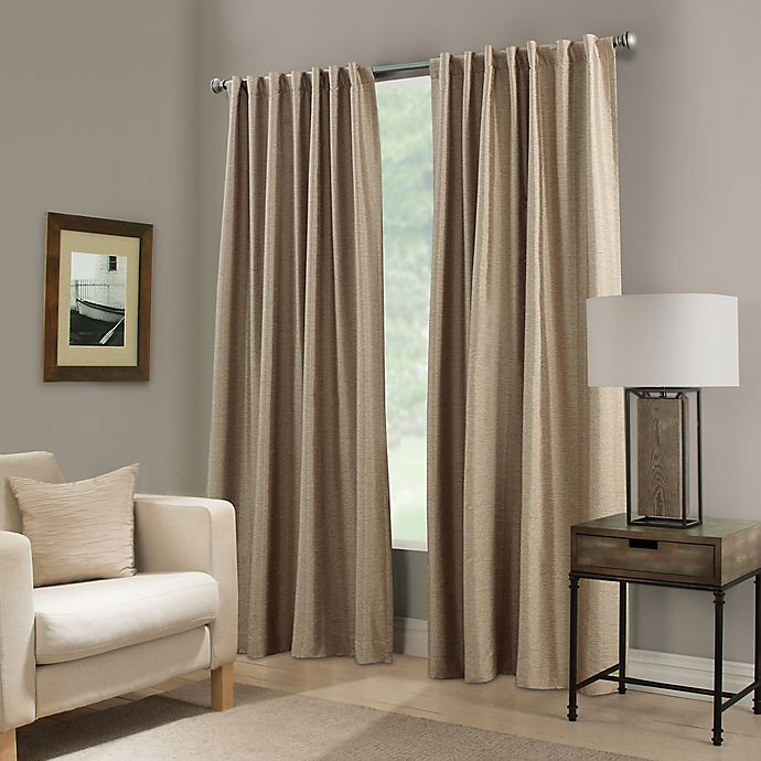Alternate image 1 for Paradise 84-Inch Rod Pocket/Back Tab Room Darkening Window Curtain Panel in Flax
