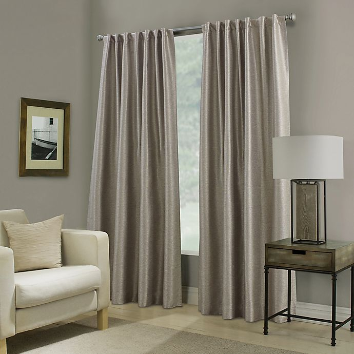 Alternate image 1 for Paradise 63-Inch Rod Pocket/Back Tab Room Darkening Window Curtain Panel in Stone