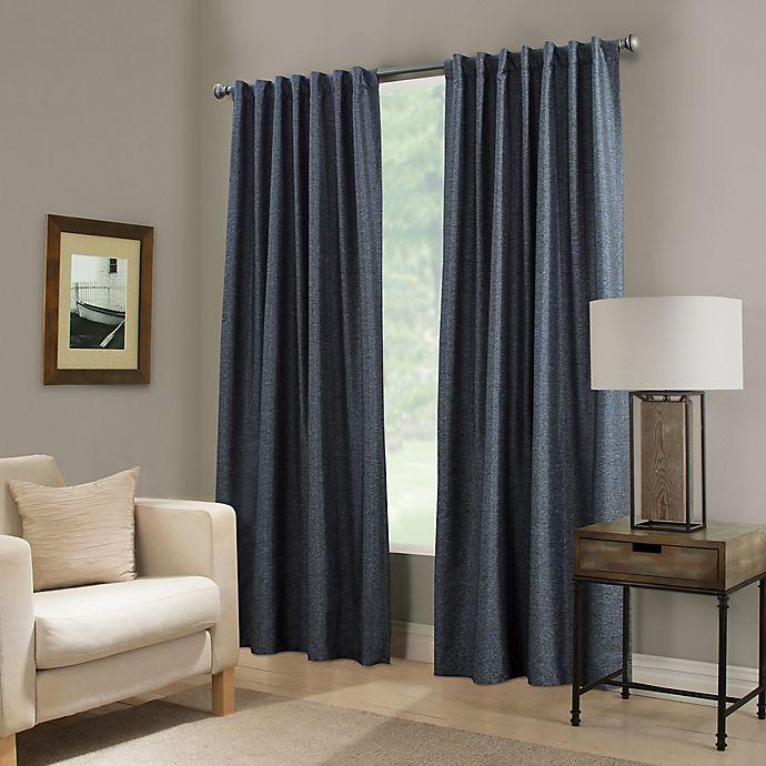 Alternate image 1 for Paradise 84-Inch Rod Pocket/Back Tab Room Darkening Window Curtain Panel in Indigo