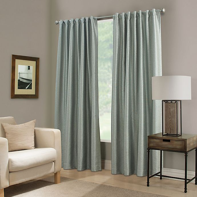 Alternate image 1 for Paradise 63-Inch Rod Pocket/Back Tab Room Darkening Window Curtain Panel in Spa