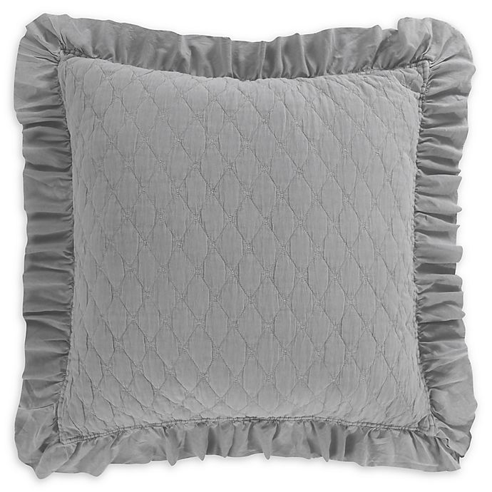 Alternate image 1 for Levtex Home Sandwash<strong> </strong>European Pillow Sham in Grey