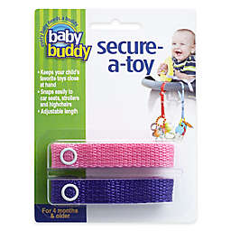 Baby Buddy® 2-Pack Secure-A-Toy in Pink/Purple