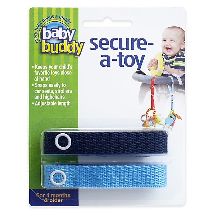 Alternate image 1 for Baby Buddy® Secure-A-Toy in Navy Blue (2-Pack)