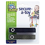 Baby Buddy® Secure-A-Toy in Black/Green (2-Pack)