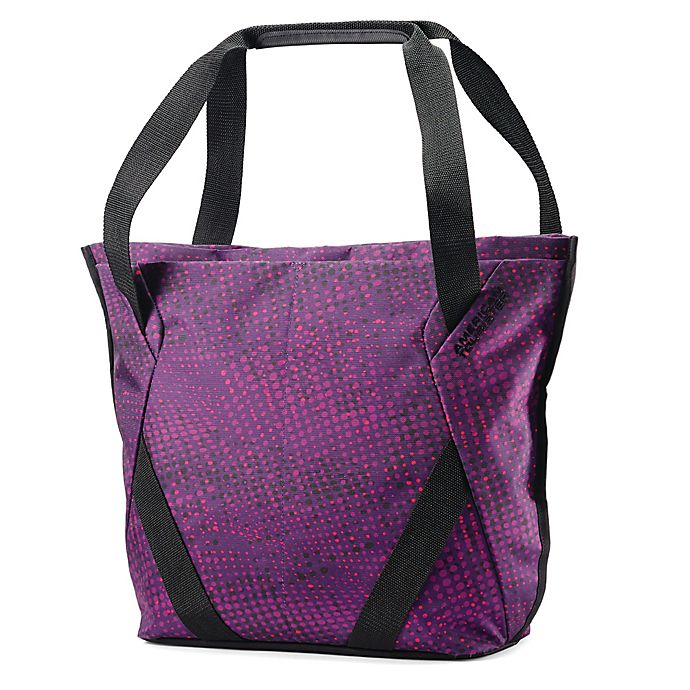 Alternate image 1 for American Tourister® Zoom Checked Shopper Tote in Purple
