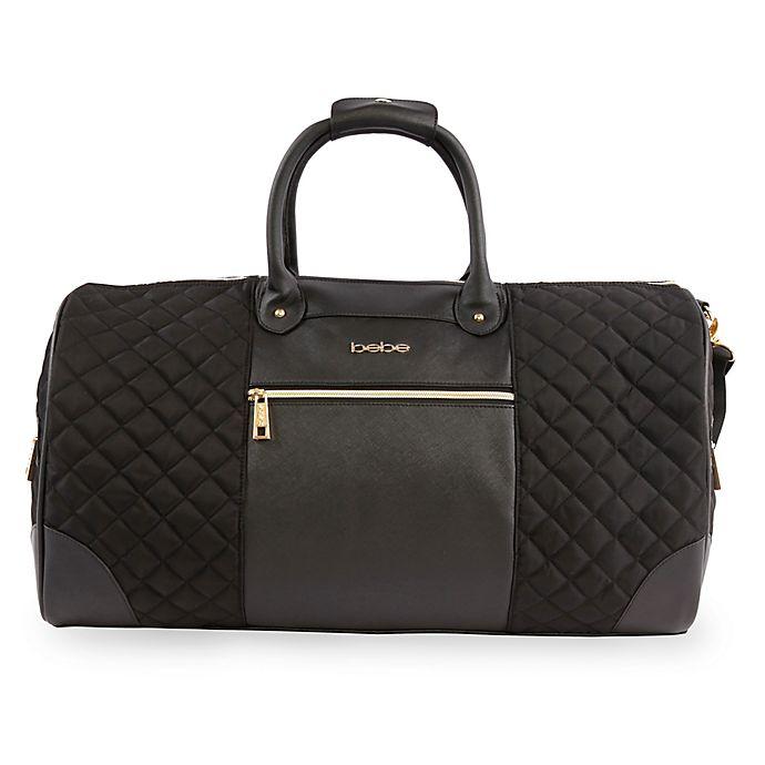 Alternate image 1 for bebe Mandy Weekend Travel Duffle Bag in Black