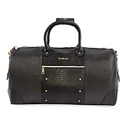 bebe Ellisa 21-Inch Weekend Travel Bag in Black/Gold
