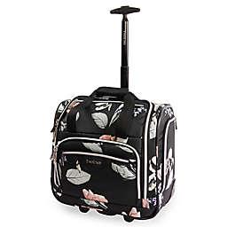 Bebe Valentina 16.5-Inch Wheeled Underseat Luggage in Black