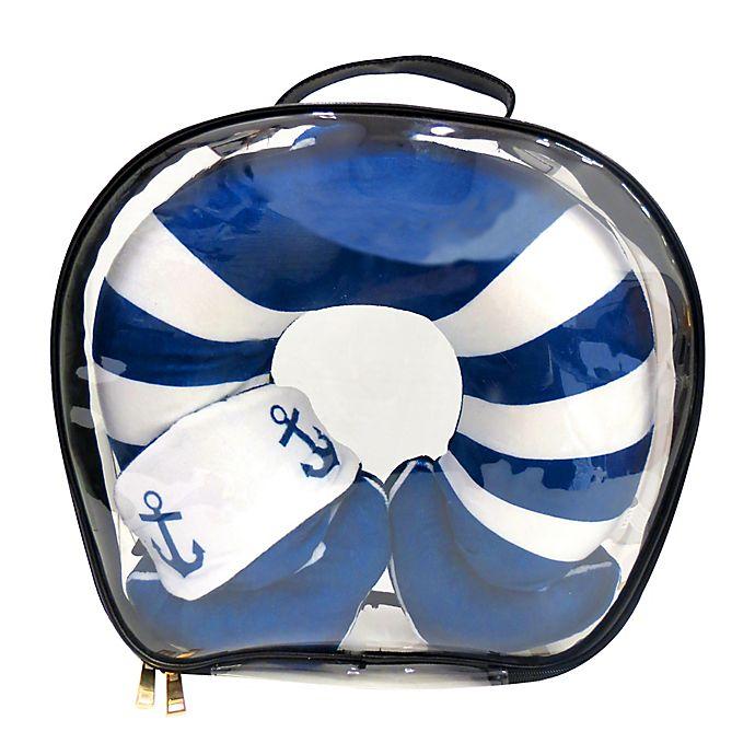 Alternate image 1 for Under One Sky Anchor Neck Pillow/Eye Mask Set in Navy
