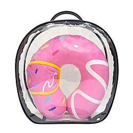Under One Sky Donut Neck Pillow/Eye Mask Set in Pink