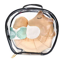 Under One Sky Seahorse Neck Pillow/Eye Mask Set in Off White