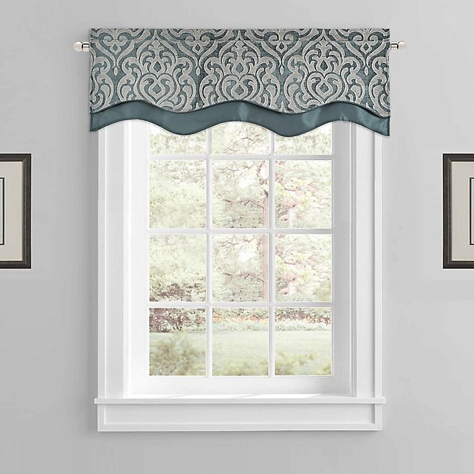 Alternate image 1 for J. Queen New York™ Sicily Window Valance in Teal