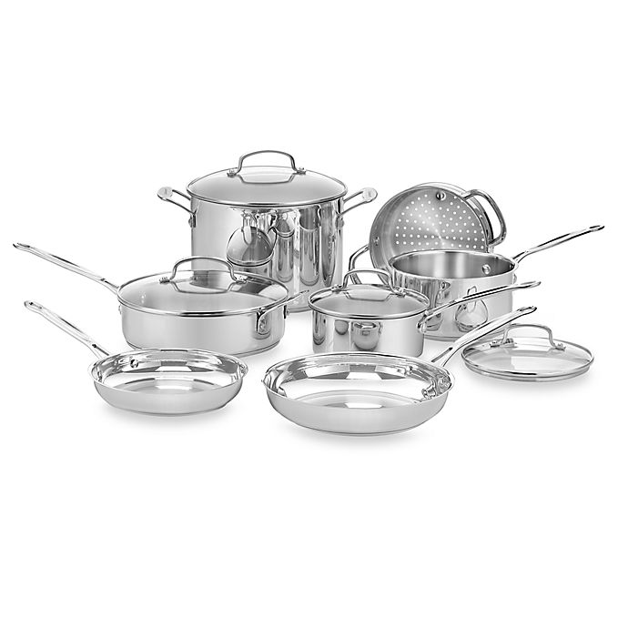 Alternate image 1 for Cuisinart® Chef's Classic™ Stainless Steel 11-Piece Cookware Set and Open Stock