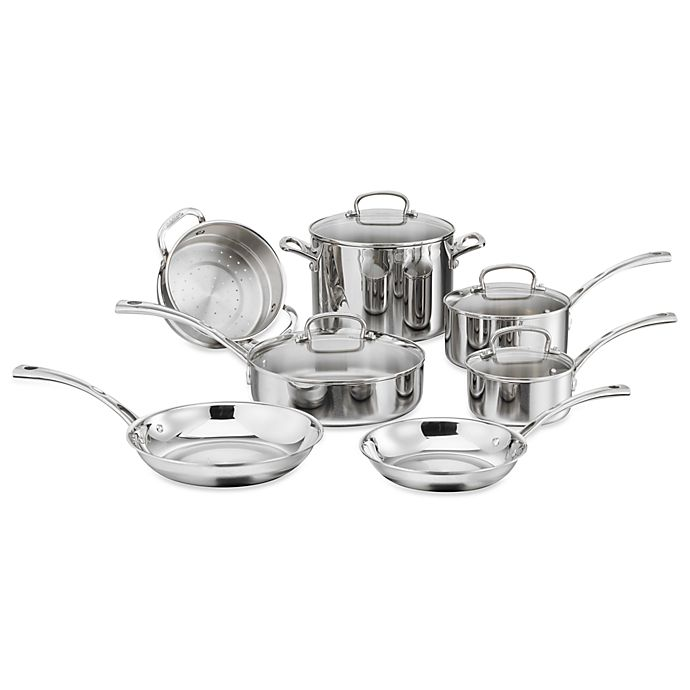 Alternate image 1 for Cuisinart® French Classic Tri-Ply Stainless 11-Piece Cookware Set