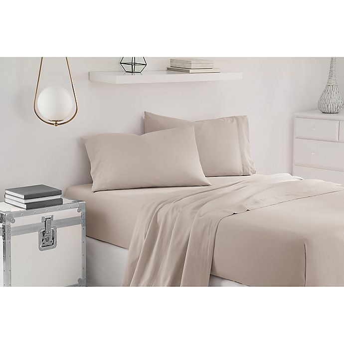 Alternate image 1 for UGG® Sunwashed Twin XL Sheet Set in Silver/Grey