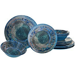 Certified International Radiance 12-Piece Dinnerware Set in Teal