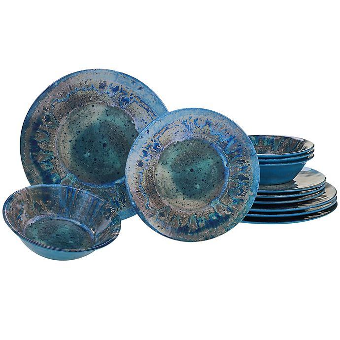 Alternate image 1 for Certified International Radiance 12-Piece Dinnerware Set in Teal