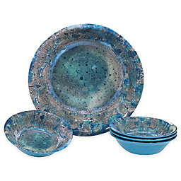 Certified International Radiance 5-Piece Serving/Salad Set in Teal