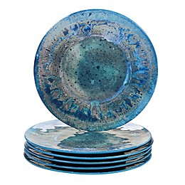 Certified International Radiance Dinner Plates in Teal (Set of 6)