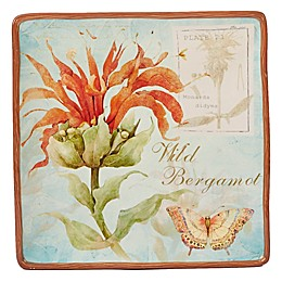 Certified International Herb Blossoms Square Platter