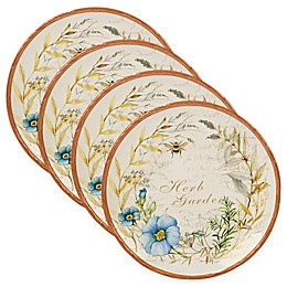 Certified International Herb Blossoms Dinner Plates (Set of 4)