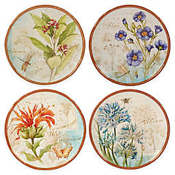 Certified International Herb Blossoms Dessert Plates (Set of 4)