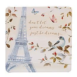 Certified International Beautiful Romance Square Platter
