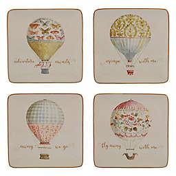 Certified International Beautiful Romance Balloon Dessert Plates (Set of 4)