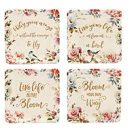 Certified International Beautiful Romance Canape Plates (Set of 4)