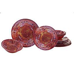 Certified International Radiance 12-Piece Dinnerware Set in Red