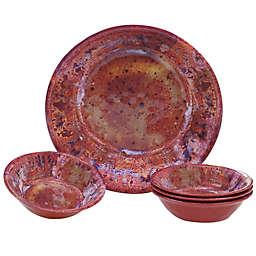 Certified International Radiance 5-Piece Serving/Salad Set in Red