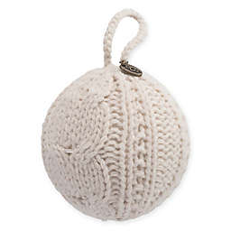 ugg classic cable knit christmas tree ornament in snow