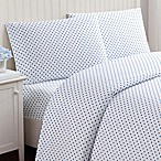 Truly Soft Everyday Dot Queen Sheet Set in Blue