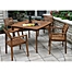 Part of the Outdoor Interiors® Eucalyptus Patio Dining Collection in Brown Umber