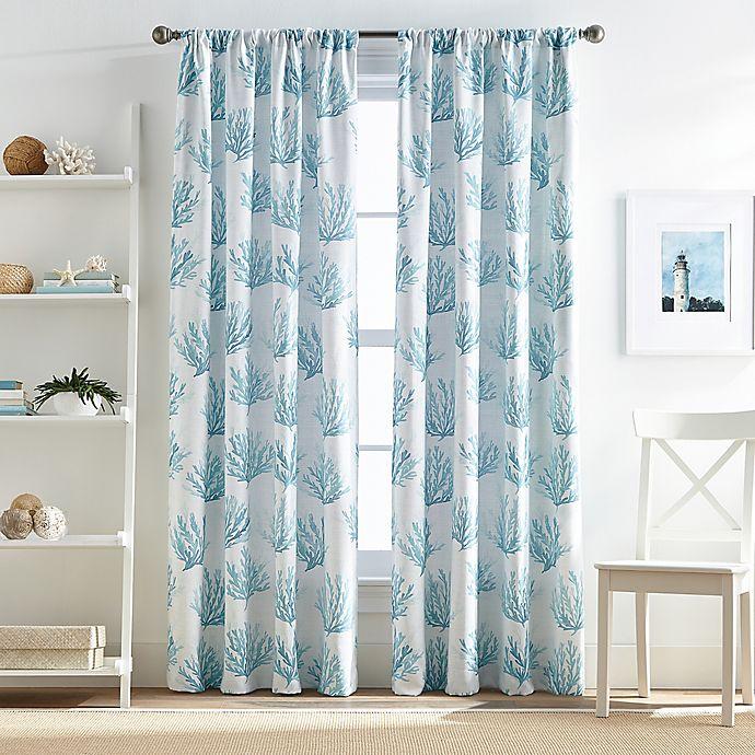 Cocoa Beach Pole Top Window Curtain Panel