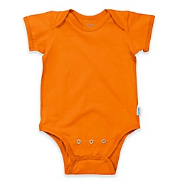 i play.® Brights Organic Cotton Short-Sleeve Adjustable Bodysuit in Orange