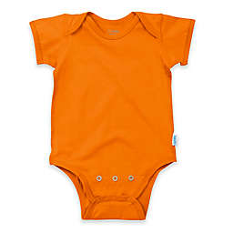 i play.® Brights Organic Cotton Short-Sleeve Adjustable Bodysuit in Orange