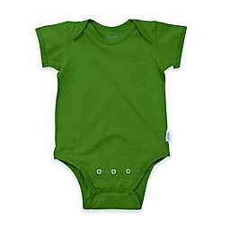 i play.® Brights Organic Cotton Short-Sleeve Adjustable Bodysuit in Olive