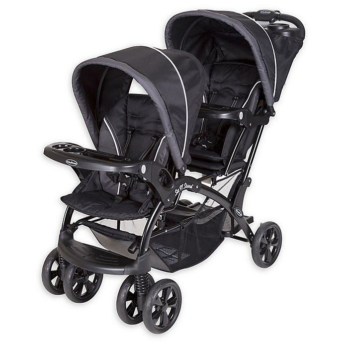 Alternate image 1 for Baby Trend® Sit 'N Stand® Double Stroller in Onyx