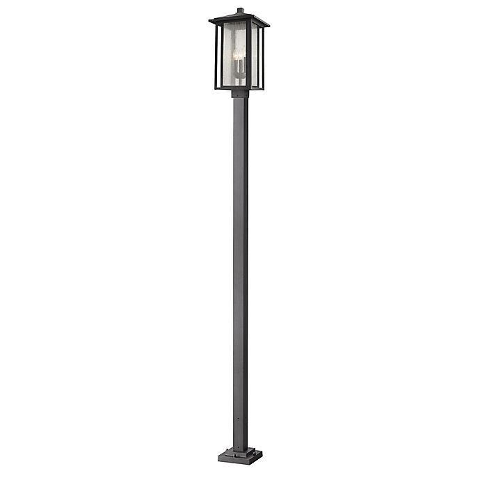 Alternate image 1 for Filament Design 3-Light Square Lantern Mounted Outdoor Post in Black