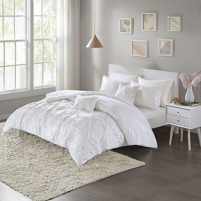 Alternate image 1 for Intelligent Design Adele Metallic Twin/Twin XL Comforter Set